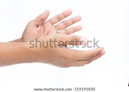 man clapping hands applause isolated on stock photo royalty free