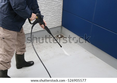 Man cleaning the floor