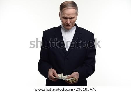 man counts  dollar usa  money bills in hands  - stock photo