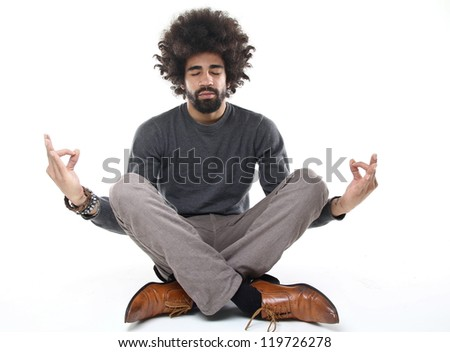 Man doing Budha - stock photo