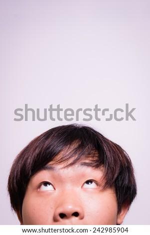 Man doubting about something around him. - stock photo