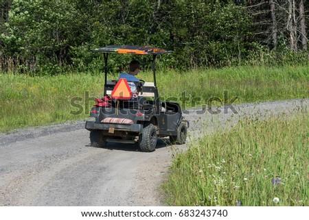 Lawn Mower Zero Turn Tractor Stock Photo 1193541