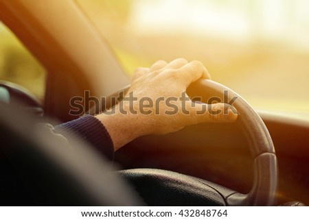 Man driving car concept - stock photo