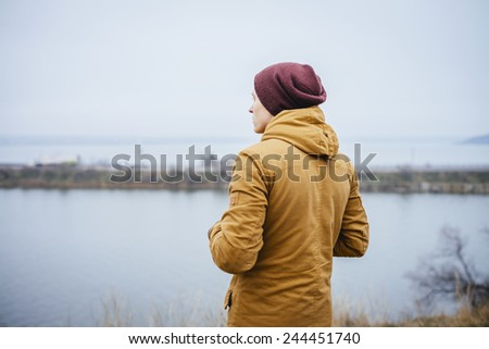Man enjoy the lake view