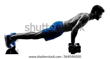 man exercising fitness crunches silhouette