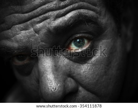 Man eye - stock photo