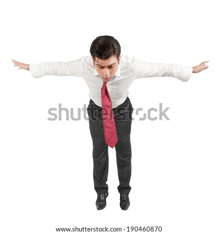 Man falling  - stock photo