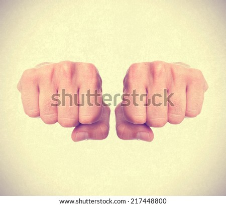 man fist concept - stock photo