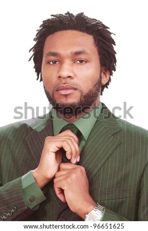 Man getting ready for a job interview - stock photo