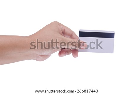 man hand holding a blank smart card