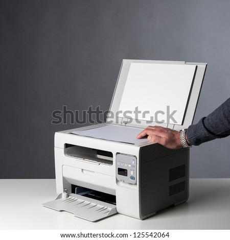 Man hand making copy. - stock photo