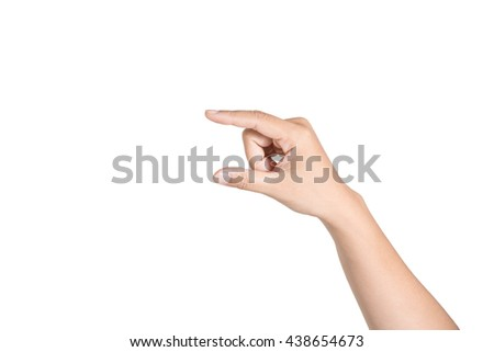 man hand on white background