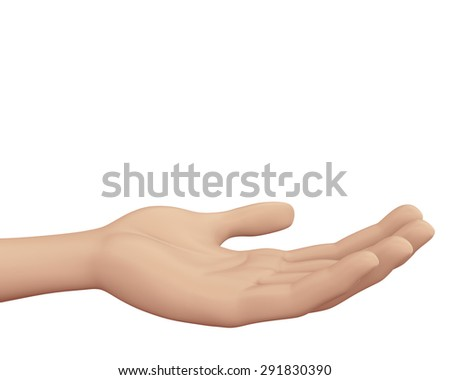 Man hand sign isolated on white background 3d render - stock photo