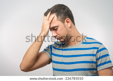 Man having headache.  - stock photo