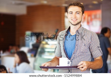man having lunch - stock photo