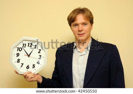Man hold on a watch