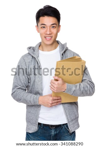 Man hold with folder