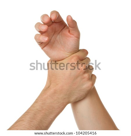 man holding woman by wrist stock photo 104205416 shutterstock