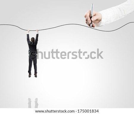 Man holding on a rope