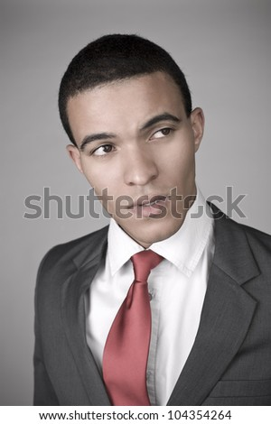 Man in a suit - stock photo