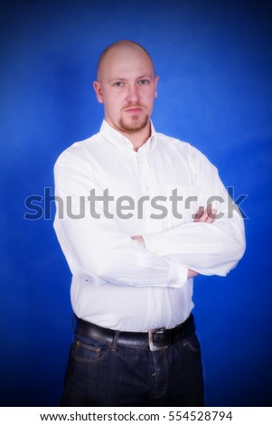 Man in a white shirt