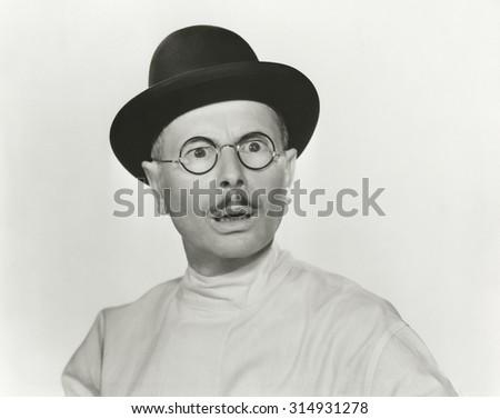 Man in disbelief - stock photo