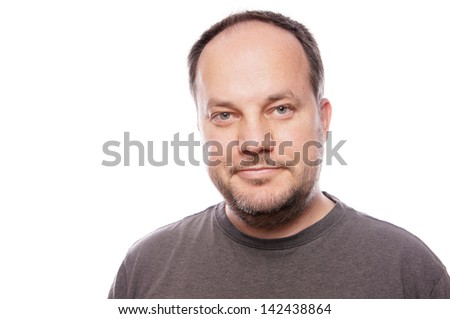 man in his forties - stock photo
