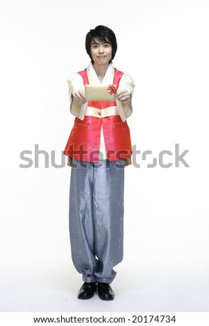 Man in Korean Traditional Dress