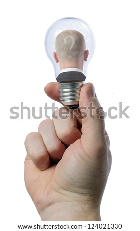 man in light bulb - creativity concept