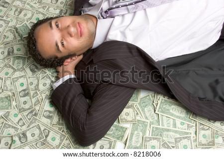 Man in Money - stock photo