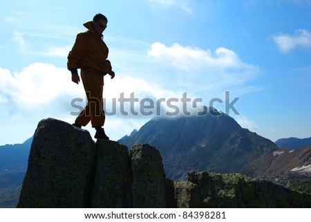 man in mountains of altai