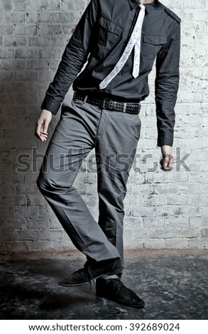 man in suit - stock photo