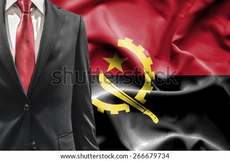 Man in suit from Angola - stock photo