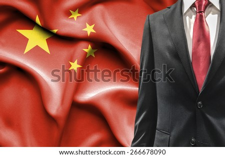 Man in suit from China - stock photo