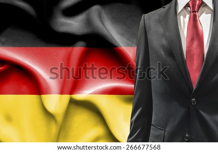 Man in suit from Germany - stock photo