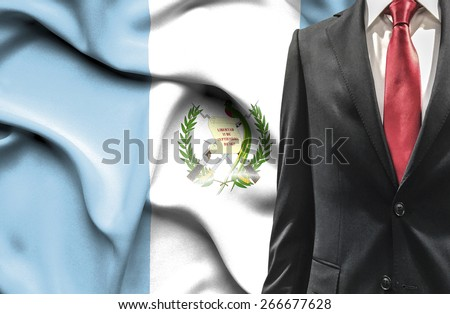 Man in suit from Guatemala - stock photo