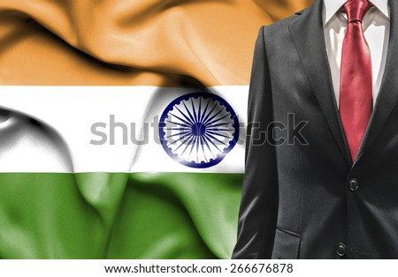 Man in suit from India - stock photo