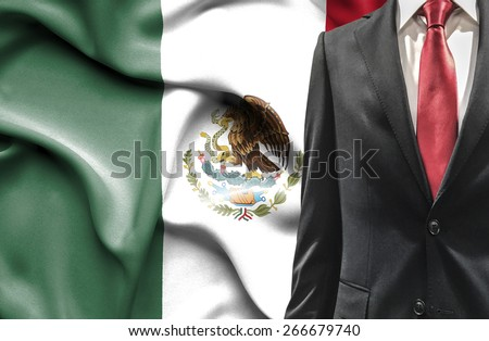 Man in suit from Mexico - stock photo