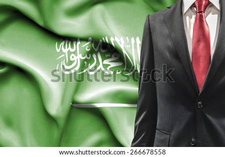 Man in suit from Saudi Arabia - stock photo