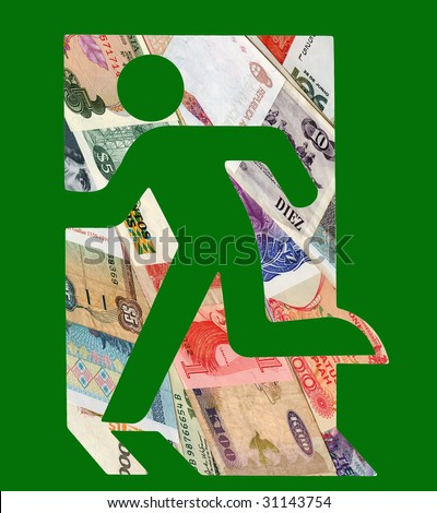 Man in the financial market. Take the right decision. - stock photo