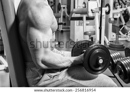 man in the fitness club - stock photo