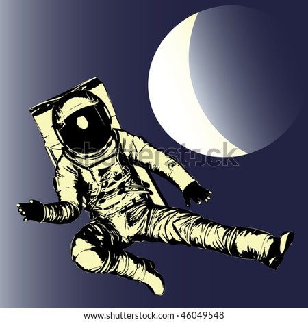 Man in the Moon Bitmap Background - stock photo
