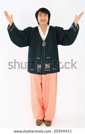 Man in Traditional Korean Dress