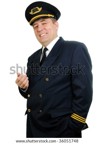 Man in uniforn of pilot