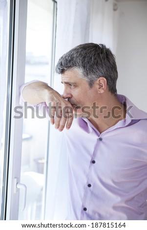 Man Indoors - stock photo