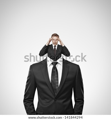 man inside man - stock photo