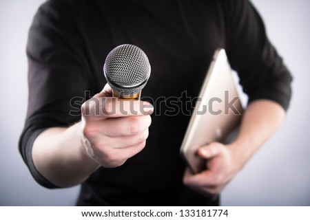 Man Interviews - stock photo
