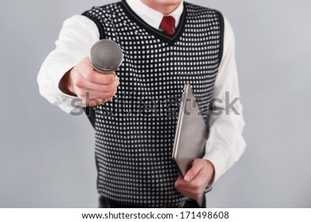 Man Interviews - stock photo