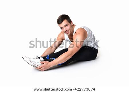 Man is engaged in fitness