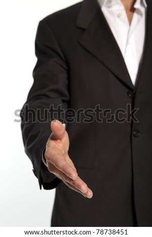 Man is holding his Hand into the Camera